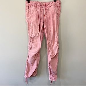 American Eagle Pink Cargo Pants Mid Rose